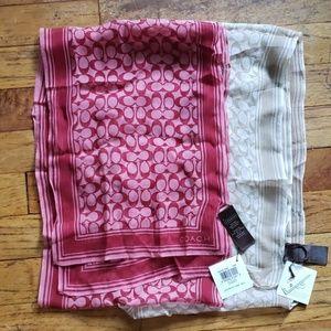 Set of 2 Silk Coach scarfs